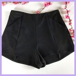Lush black shorts rayon blend elegant size large